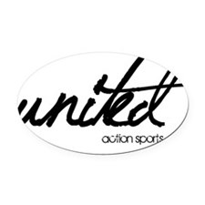 Untitled-1 Oval Car Magnet