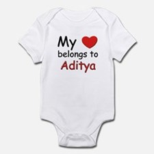 My heart belongs to aditya Infant Bodysuit
