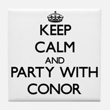 Keep Calm and Party with Conor Tile Coaster