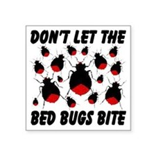 """bed_bugs_TAL2010_white Square Sticker 3"""" x 3"""""""