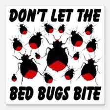 """bed_bugs_TAL2010_white Square Car Magnet 3"""" x 3"""""""