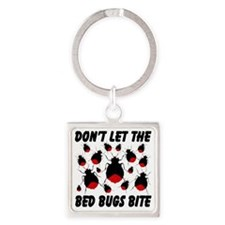 bed_bugs_TAL2010_white Square Keychain