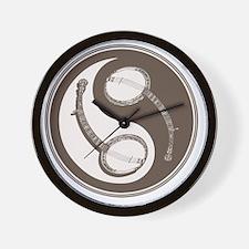 banjo-yang-brn-T Wall Clock