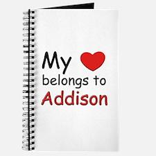 My heart belongs to addison Journal