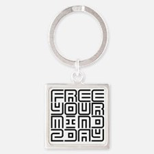 FREE YOUR MIND 2DAY Square Keychain