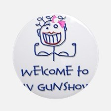 Welcome girl png Round Ornament