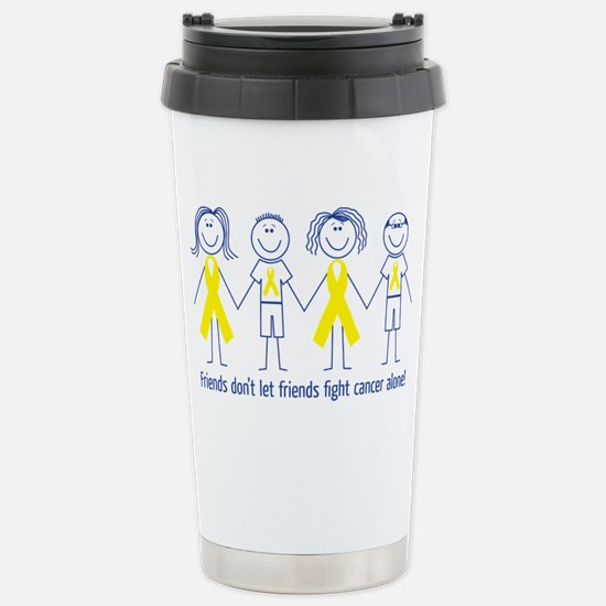 Friends Fighting Cancer Stainless Steel Travel Mug