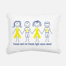 Friends Fighting Cancer Rectangular Canvas Pillow