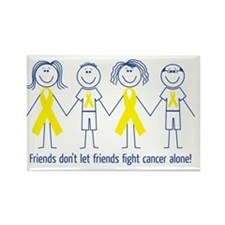 Friends Fighting Cancer Rectangle Magnet
