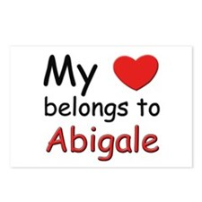 My heart belongs to abigale Postcards (Package of