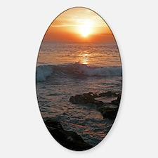 bali tana lot sunset Sticker (Oval)