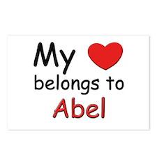 My heart belongs to abel Postcards (Package of 8)