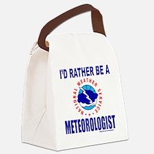 IdRatherBeAMeteorologistNWS Canvas Lunch Bag