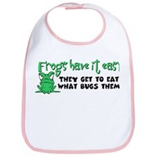 Frogs Have It Easy Bib