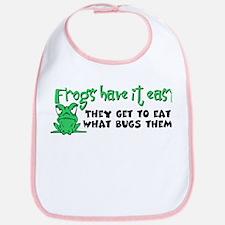 Frogs Have It Easy Bib
