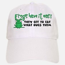 Frogs Have It Easy Baseball Baseball Cap