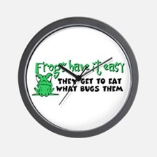 Frogs Have It Easy Wall Clock