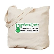 Frogs Have It Easy Tote Bag