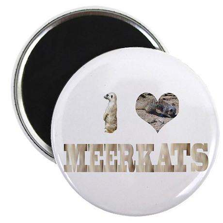 """i love meerkats 2.25"""" Magnet (10 pack)"""