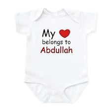 My heart belongs to abdullah Infant Bodysuit