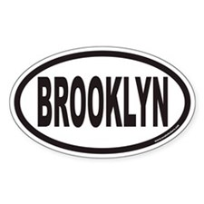 BROOKLYN Euro Oval Decal