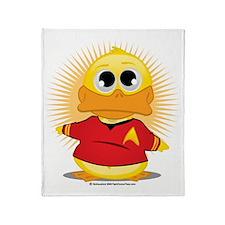 ST-Red-Shirt-Duck Throw Blanket