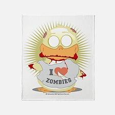 Zombie-Duck Throw Blanket