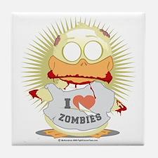 Zombie-Duck Tile Coaster