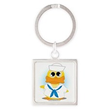 Sailor-Duck Square Keychain