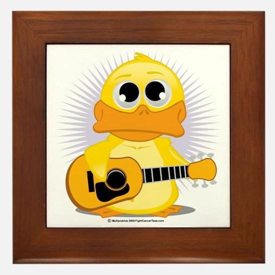 Guitar-Duck Framed Tile