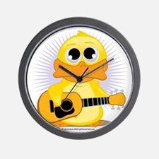 Guitar-Duck Wall Clock