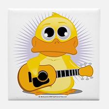 Guitar-Duck Tile Coaster