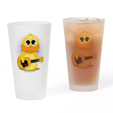 Guitar-Duck Drinking Glass
