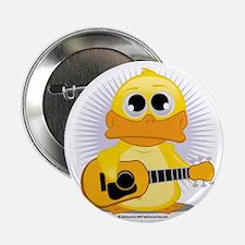 """Guitar-Duck 2.25"""" Button"""