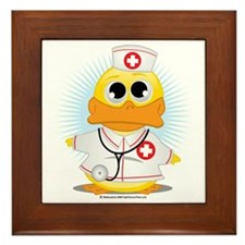 Nurse-Duck Framed Tile