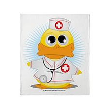 Nurse-Duck Throw Blanket