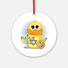 Jewish-Duck Round Ornament