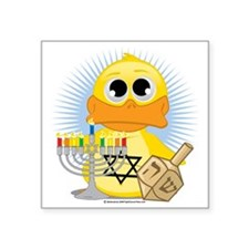 "Jewish-Duck Square Sticker 3"" x 3"""