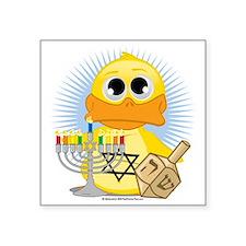 "Jewish-Duck Square Sticker 3"" x 3"""