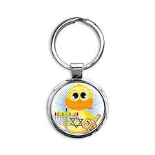 Jewish-Duck Round Keychain