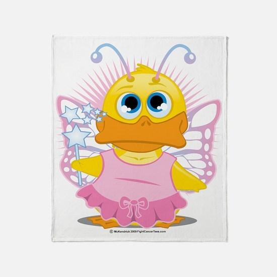 Faerie-Duck Throw Blanket