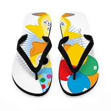 Birthday-Duck Flip Flops