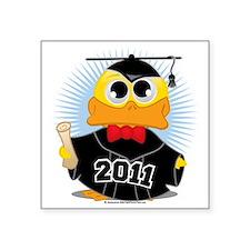 """Graduation-Duck-2011 Square Sticker 3"""" x 3"""""""