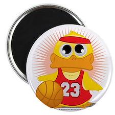 Basketball-Duck Magnet