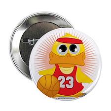 """Basketball-Duck 2.25"""" Button"""