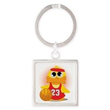 Basketball-Duck Square Keychain