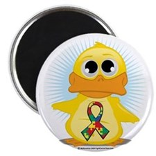 Autism-Ribbon-Duck Magnet