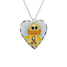 Autism-Ribbon-Duck Necklace