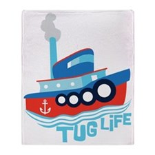 Tug Life Throw Blanket