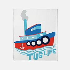 Tug Life Throw Blanket